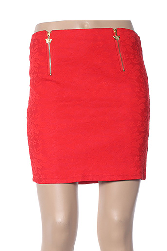 Jupe courte rouge ANABELLE pour femme