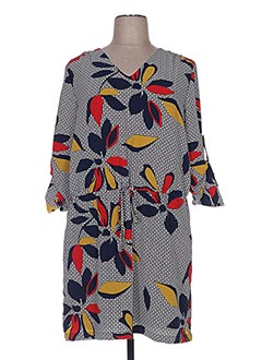 Robe mi-longue bleu BY ONE pour femme