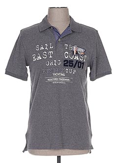 Polo manches courtes gris BEVERLY pour homme