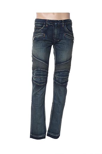 Jeans coupe droite bleu BALMAIN pour homme