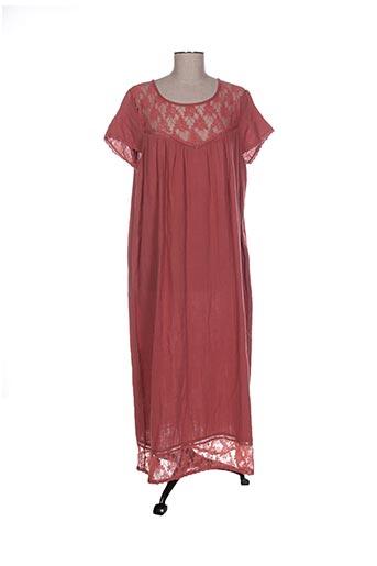 Robe mi-longue rouge CHICOSOLEIL pour femme
