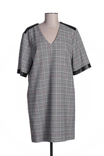 Robe mi-longue gris ANA SOUSA pour femme