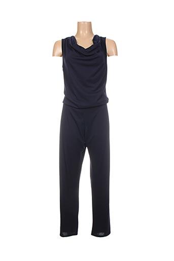 Combi-pantalon bleu RENATTO BENE pour femme