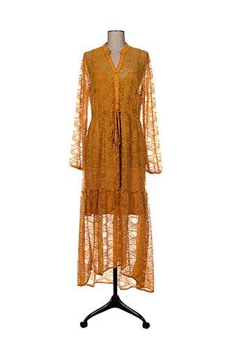 Robe longue jaune BSB pour femme