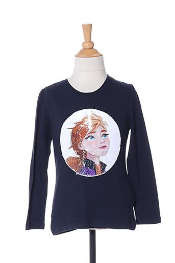 T-shirt manches longues bleu NAME IT pour fille
