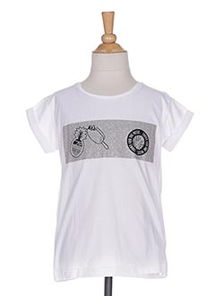 T-shirt manches courtes blanc SORRY 4 THE MESS pour fille