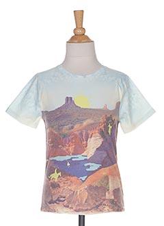 T-shirt manches courtes bleu BILLY BONNY pour garçon
