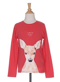 T-shirt manches longues rouge TOM TAILOR pour fille