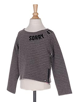 Sweat-shirt gris SORRY 4 THE MESS pour fille