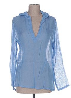 Blouse manches longues bleu BAKKER pour femme