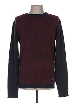 Pull col rond rouge PETROL INDUSTRIES pour homme