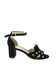 Sandales/Nu pieds noir FRANCE MODE pour femme