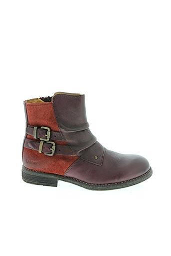 Bottines/Boots violet KICKERS pour fille