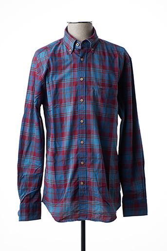 Chemise manches longues rouge FYNCH-HATTON pour homme