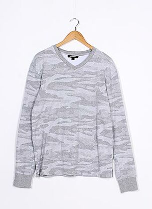 Sweat-shirt gris KARL LAGERFELD pour homme