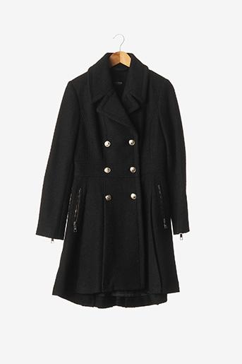 Manteau long noir GUESS pour femme