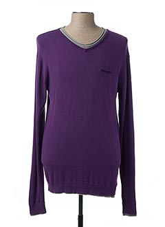 Pull col V violet DEELUXE pour homme