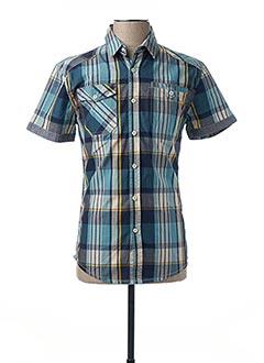 Chemise manches courtes bleu DEELUXE pour homme