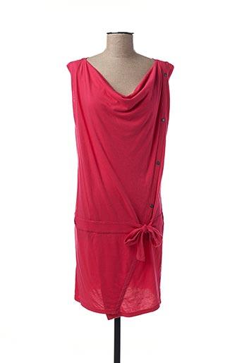 Robe mi-longue rouge BENCH pour femme