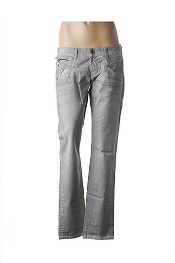 Jeans coupe droite beige FREEMAN T.PORTER pour femme