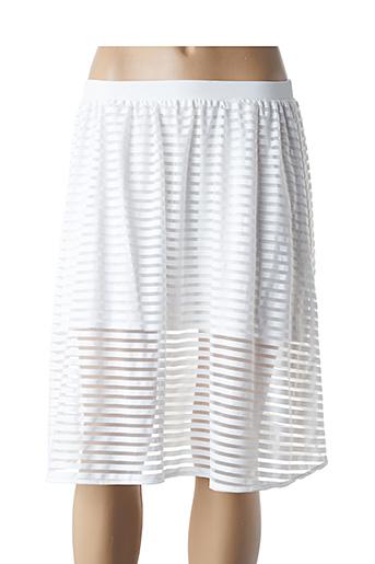 Jupe mi-longue blanc COQUELICOT pour femme