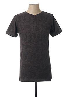 T-shirt manches courtes gris DSTREZZED pour homme