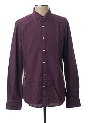 Chemise manches longues violet CARNET DE VOL pour homme