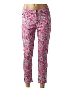 Pantalon 7/8 rose MENSI COLLEZIONE pour femme