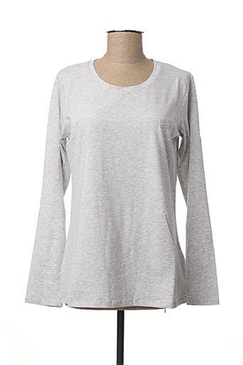 T-shirt manches longues gris LIU JO pour femme