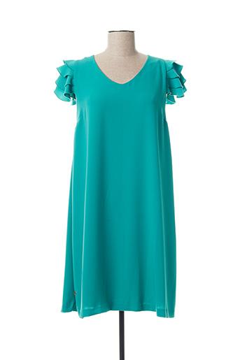 Robe courte bleu CRISTINA BARROS pour femme