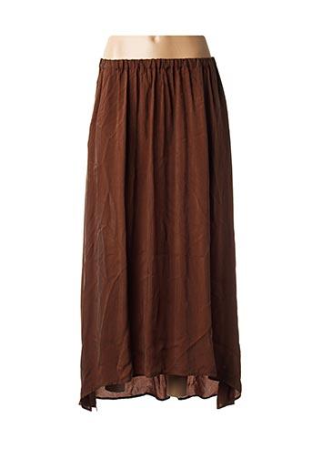 Jupe longue marron AMERICAN VINTAGE pour femme