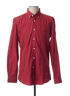 Chemise manches longues rouge HARMONT & BLAINE pour homme