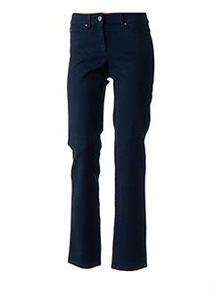 Jeans coupe droite bleu BRANDTEX pour femme