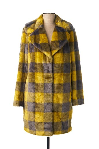 Manteau long jaune BEAUMONT pour femme