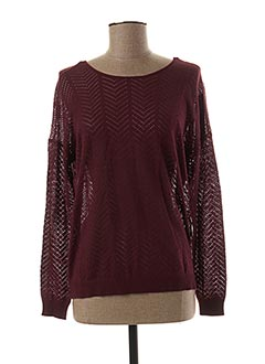 Pull col rond rouge ONLY pour femme
