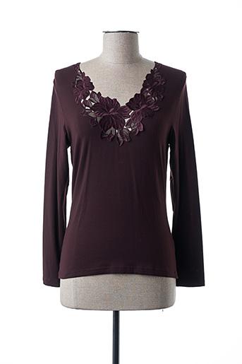 T-shirt manches longues marron EMMEBIVI pour femme