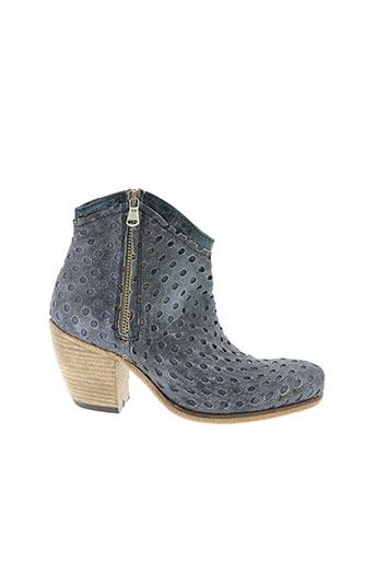 Bottines/Boots bleu BISOUS CONFITURE pour femme