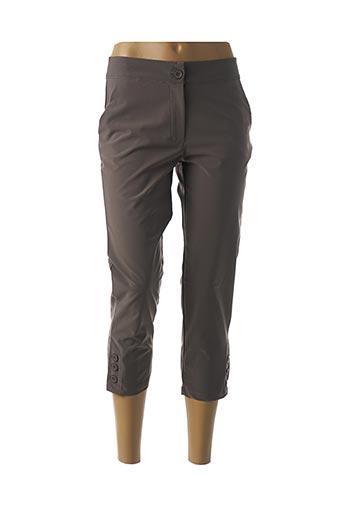 Pantalon 7/8 vert FELINO pour femme