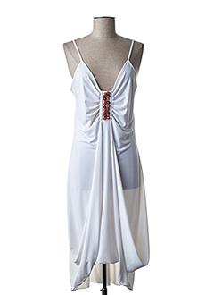 Robe mi-longue blanc ANANKE pour femme