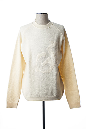 Pull col rond beige GIANFRANCO FERRE pour homme