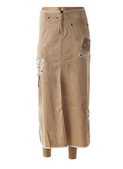 Jupe longue beige DP JEANS pour femme