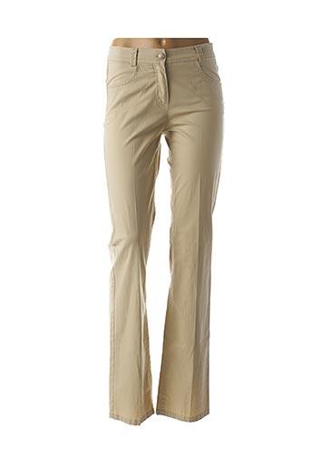 Pantalon casual beige APRIORI pour femme