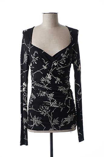 T-shirt manches longues noir ISABEL DE PEDRO pour femme