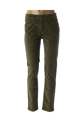 Pantalon casual vert LAUREN VIDAL pour femme