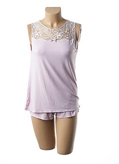 Pyjashort rose LINGERIE ELIZABETH pour femme