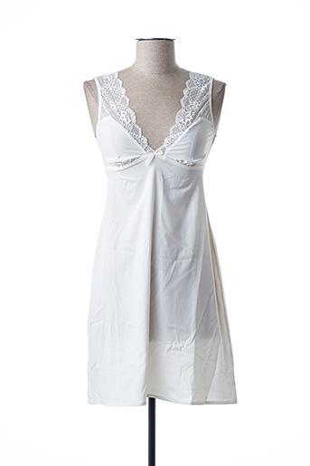 Jupon /Fond de robe blanc ANTINEA pour femme