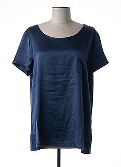 T-shirt manches courtes bleu ESQUALO pour femme
