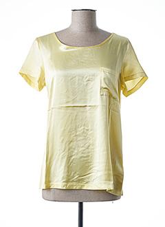 T-shirt manches courtes jaune ESQUALO pour femme