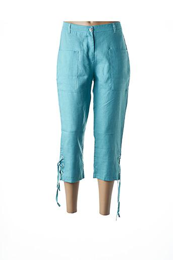 Pantalon 7/8 bleu MALOKA pour femme