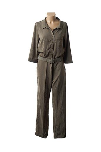 Combi-pantalon vert GRACE & MILA pour femme